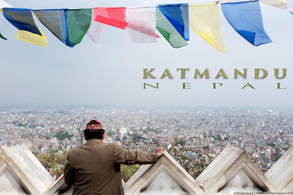 Kathmandu, Nepal, Panoramic View, Areal View