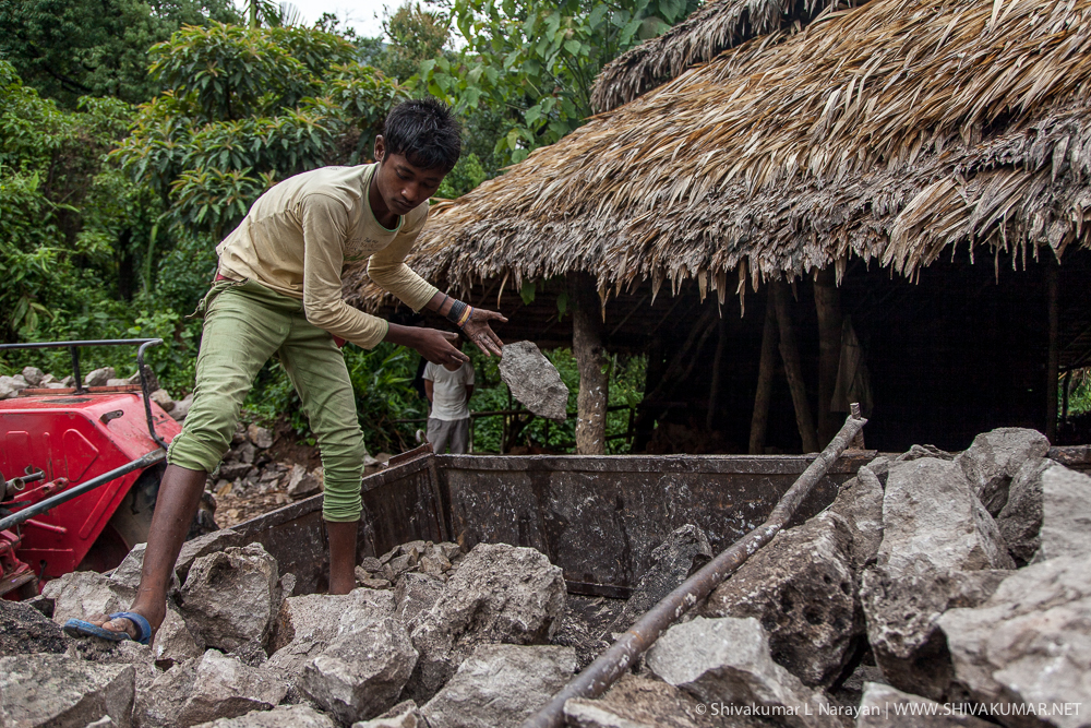 Limestone Worker, Cheerapunji, Meghalaya