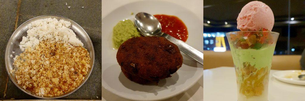 Sri Krishna Mutt Temple Meals, Hotel Diana Veg Cutlet and GudBud Icecream - Udupi