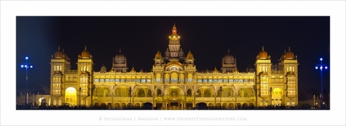 mysorepalace night panorama